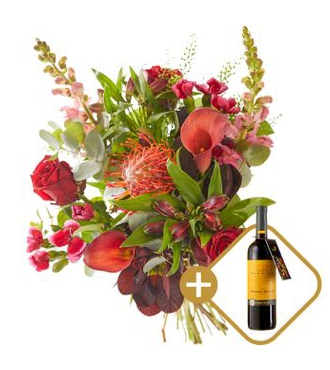 Bouquet: Festive with red wine