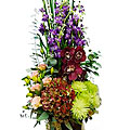 Arrangement of Cut Flowers Multi Colored