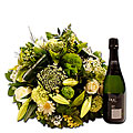 Mixed Bouquet with Bottle of Cava