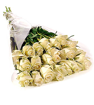 Bunch of 20 Stems White Roses