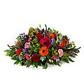 Funeral arrangment Oval, exclusive ribbon