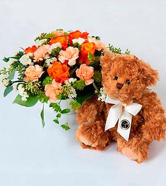 Arrangement with a Teddy Bear