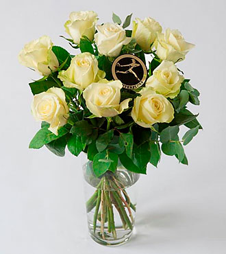 Rose Bouquet - White/Cream
