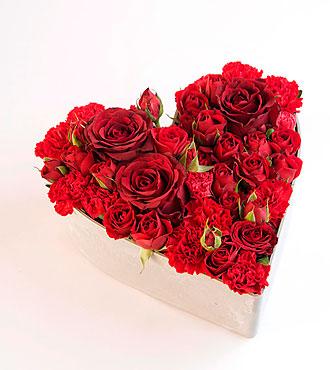 Love Heart Shaped Arrangement