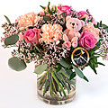 Pink Bouquet with Teddy