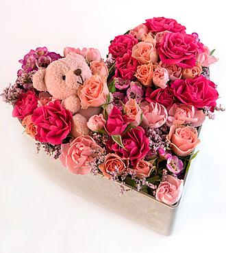 Medium flower arrangement pink mightylinksfo