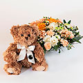 Arrangement with a Teddy Bear