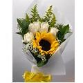Sunflower & roses bouquet