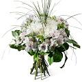 Condolence bouquet in white shades