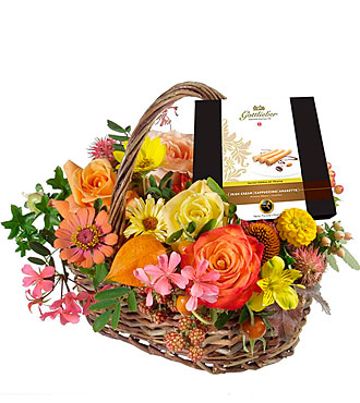 A Basket full of Flowers with Gottlieber Huppen
