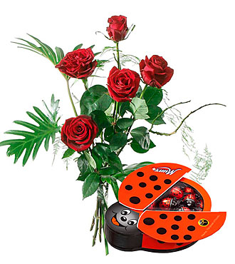 For My Sweetheart with Chocolate Ladybird