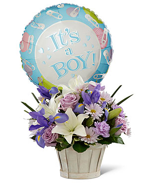 Boys Are Best! Bouquet - Basket Included