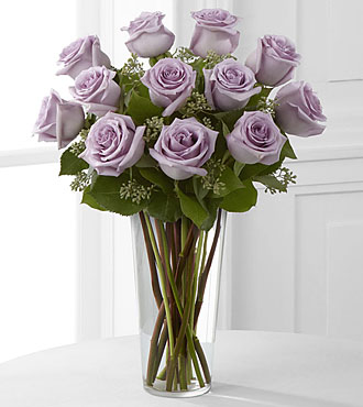 The Lavender Rose Bouquet Vase Included