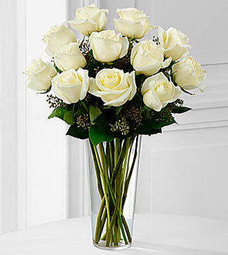 The White Rose Bouquet Vase Included