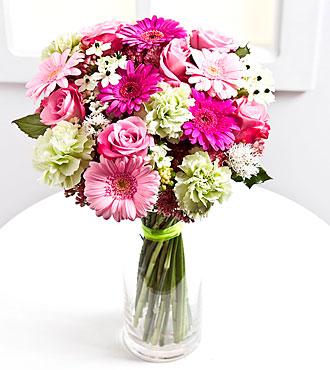 Romantic bouquet in pastel colors