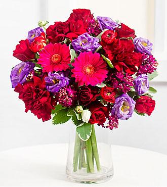 Romantic Bouquet in Purple Colors