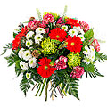 Red colored mixed bouquet Mimoso