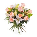Arrangement of Roses and Lilies.
