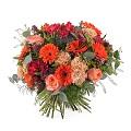 Mixed bouquet in orange shades