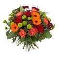 Bouquet in warm shades and greens