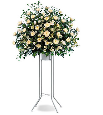Funeral Standing Arrangement (White)