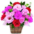 'Thanks Mom' Pink & red shade arrangement
