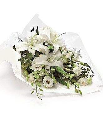 Funeral Bouquet in White only