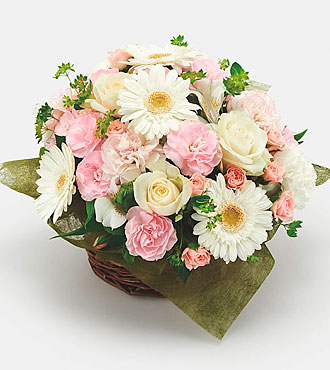Mother's Day White and Pink Arrangement