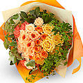 Graceful Hand-Tied Bouquet mainly with Roses