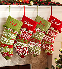 Personal Creations® Snowflake or Argyle Design Stocking