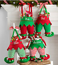 Personal Creations® Jingle Bell Elf Pants Stocking