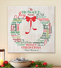 Personal Creations® Christmas Wreath Canvas