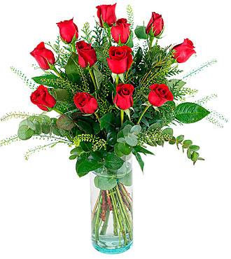 Amor, 12 Long-Stemmed Red Roses