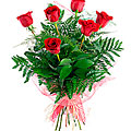 Sexta, 6 Long-Stemmed Red Roses