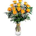 Picardia, 12 Long-Stemmed Yellow Roses