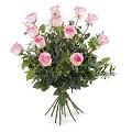 12 Stemmed Pink Roses