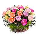 Centrepiece of Multicolored Roses