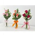 3 Orange Roses Arrangement