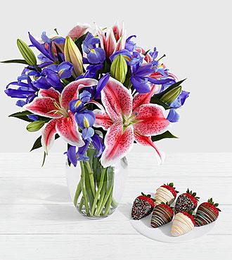 Joy Bouquet with 6 Birthday Strawberries