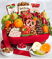 Holiday Fruit & Sweets Basket - large