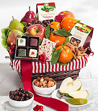Holiday Fruit & Sweets Gift Basket - Small