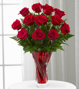 The FTD® Anniversary Rose Bouquet - VASE INCLUDED