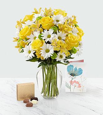 Sunny Sentiments™ Bouquet & Gift Set