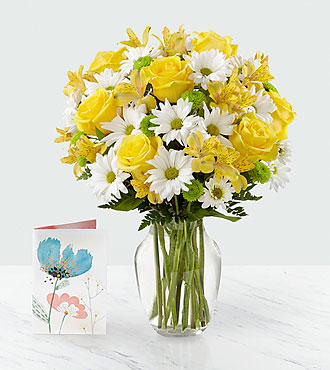 Bouquet et carteSunny Sentiments™