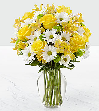 The Sunny Sentiments™ Bouquet by FTD® - VASE INCLUDED