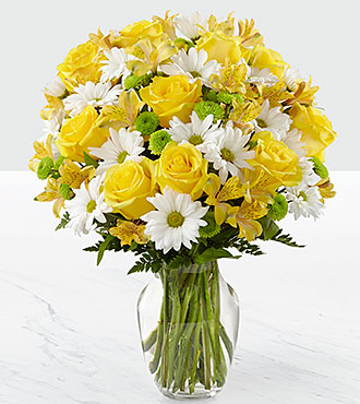 Le bouquet Sunny Sentiments™ - VASE INCLUS