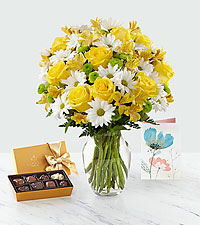Sunny Sentiments™ Bouquet & Gift Set