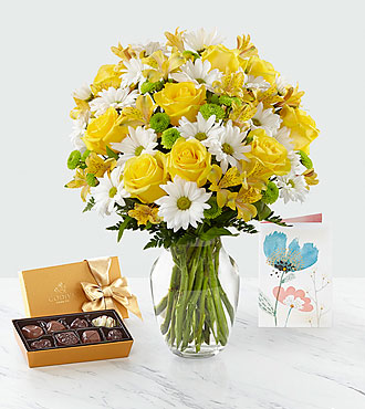 Ensemble de cadeaux et bouquetSunny Sentiments™