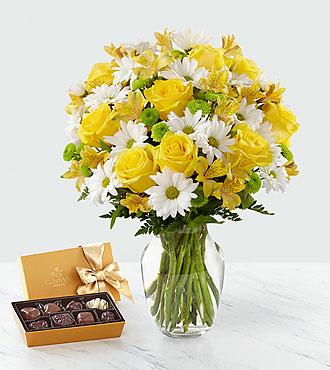 Sunny Sentiments™ Bouquet & Chocolate