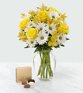 Sunny Sentiments™ Bouquet & Chocolate